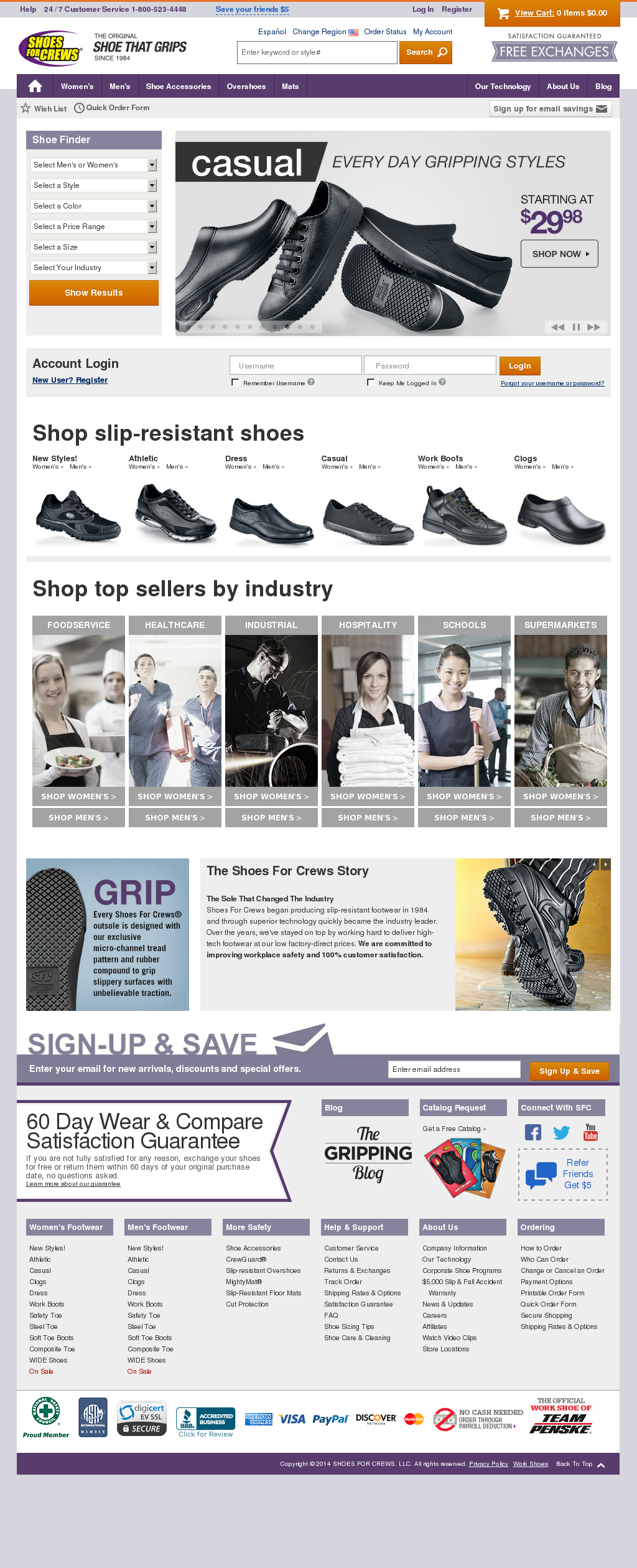 Shoes for crews website