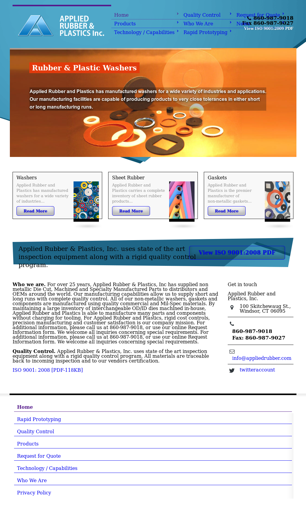 Applied Rubber and Plastics Competitors, Revenue and