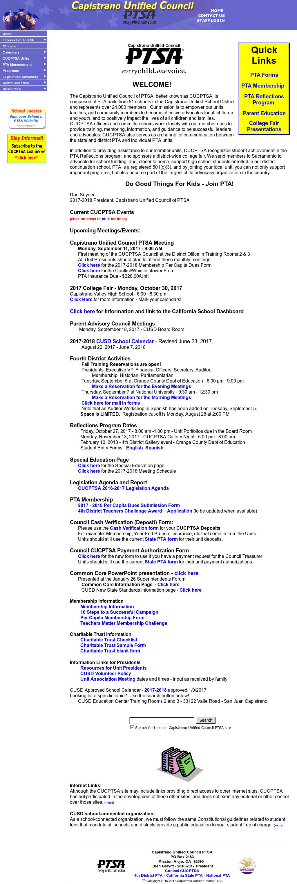 Capistrano Unified Council Ptsa Competitors, Revenue and