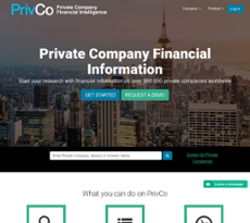 PrivCo website history