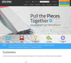 Clarizen website history