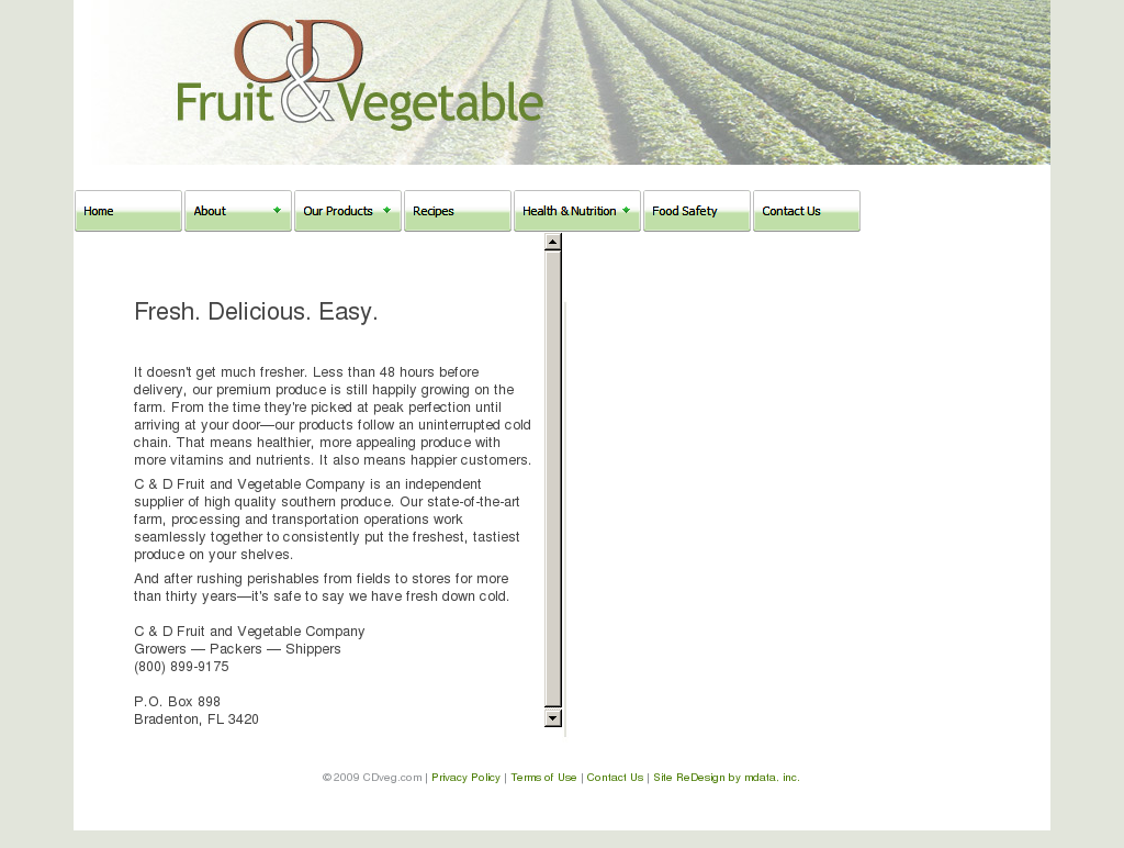 C&D Fruit & Vegetable Competitors, Revenue and Employees