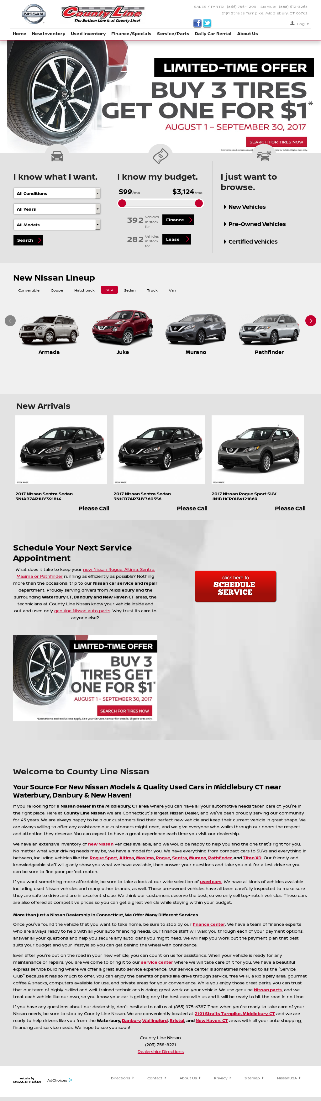 County Line Nissan Website History
