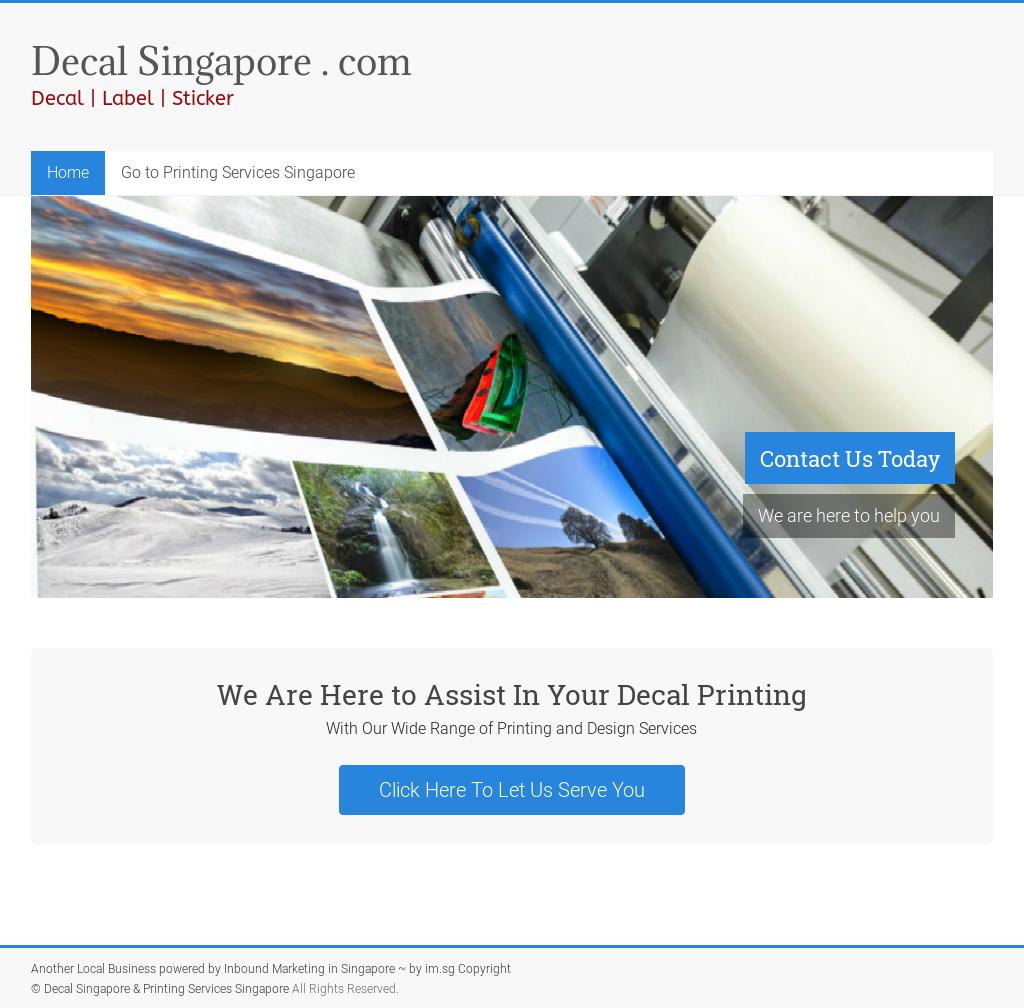 Decal singapore printing services singapore competitors revenue