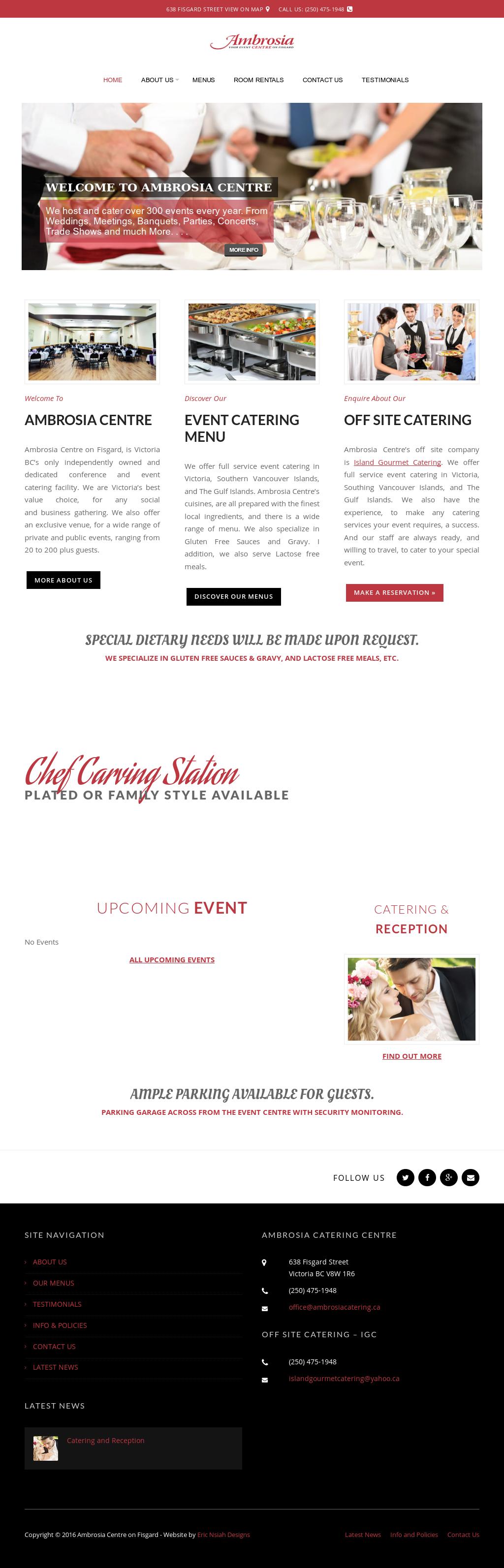 Ambrosia Conference Event Centre Competitors Revenue And