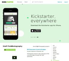 Kickstarter website history
