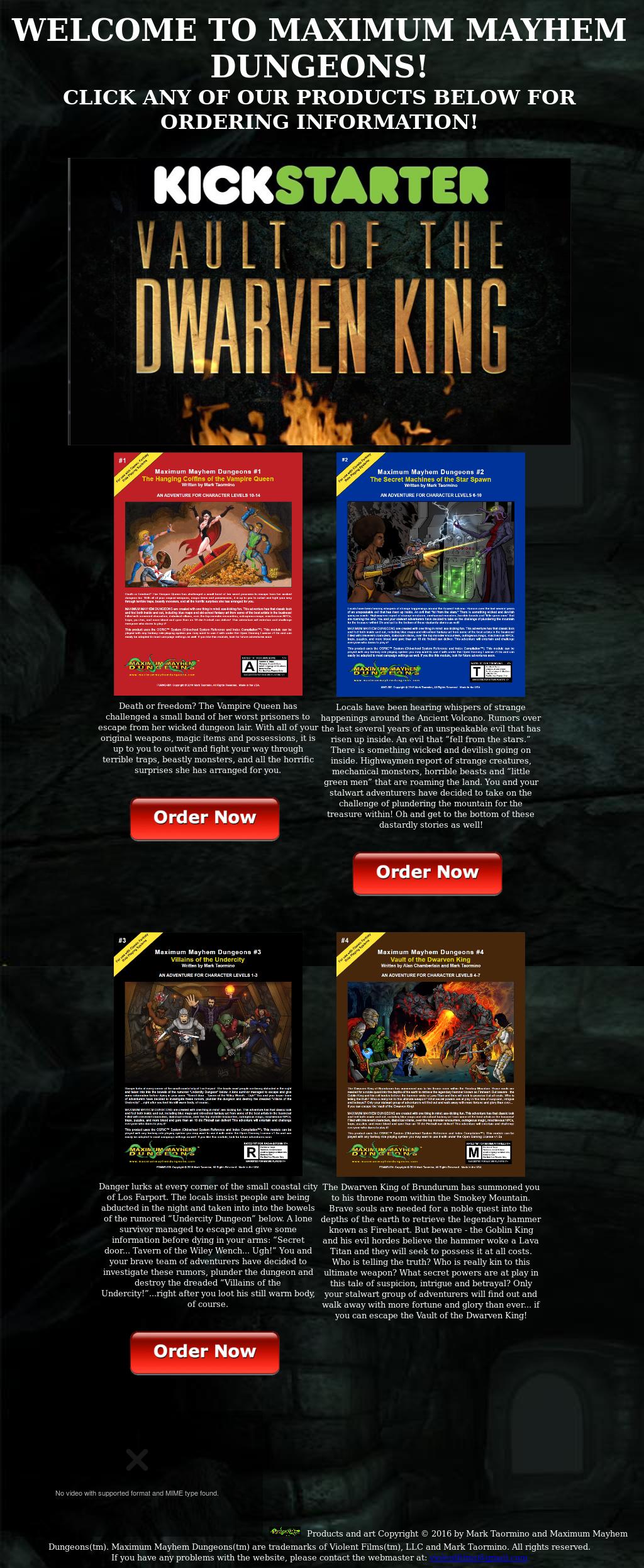 Mark Taormino And Maximum Mayhem Dungeons Competitors