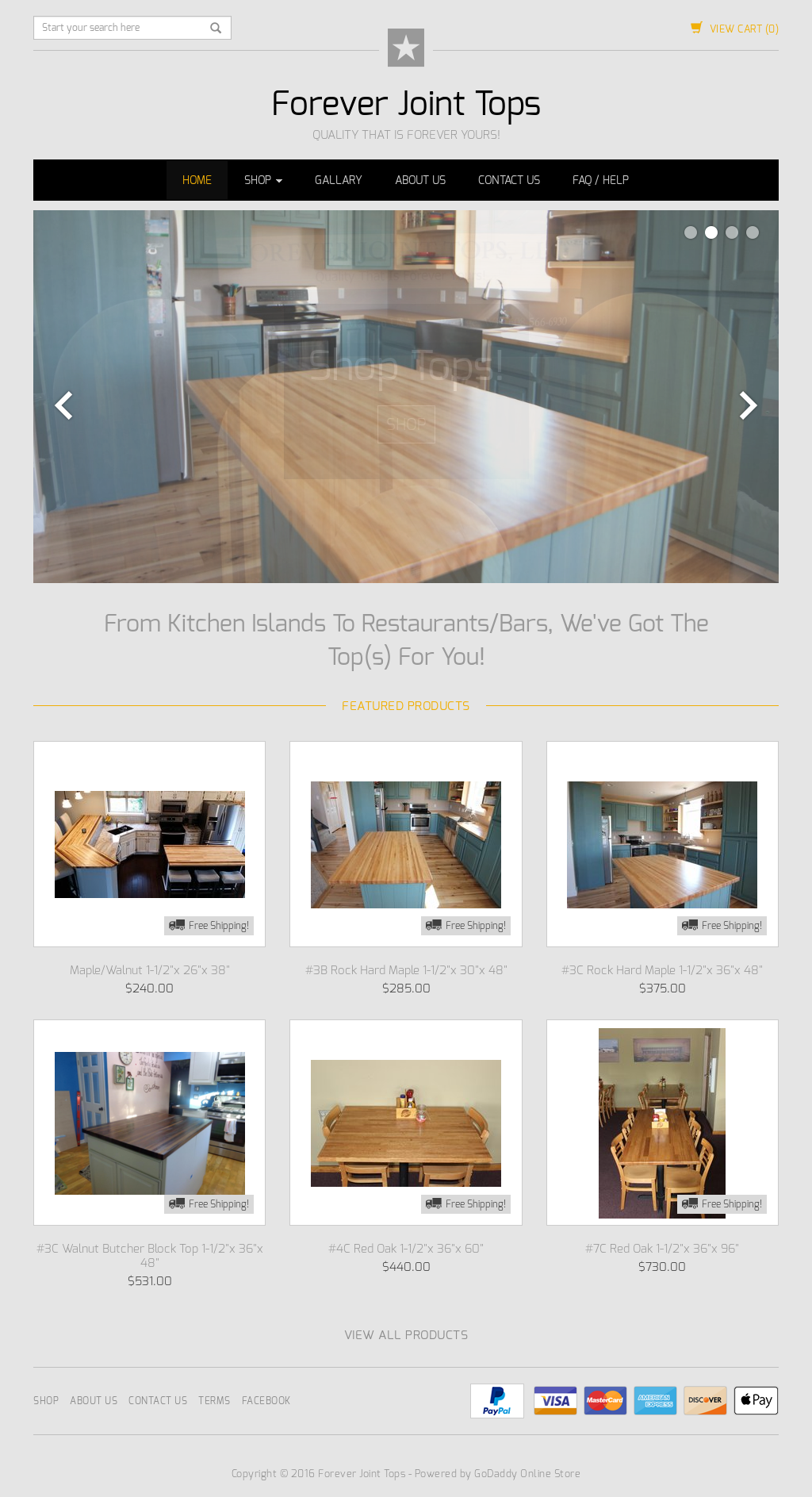 Forever Joint Butcher Block Tops Competitors, Revenue and