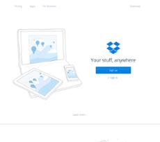 Dropbox website history