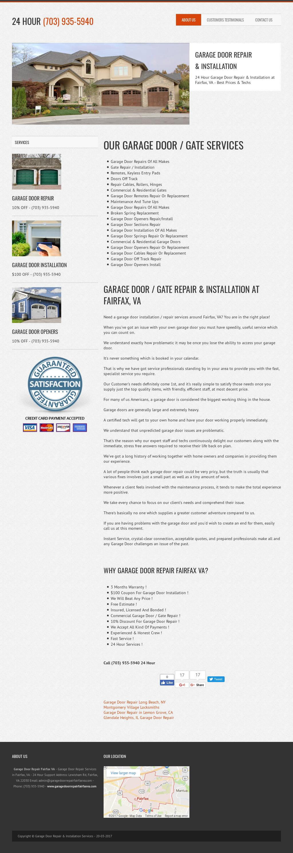 Garage Door Repair Fairfax Va Website History