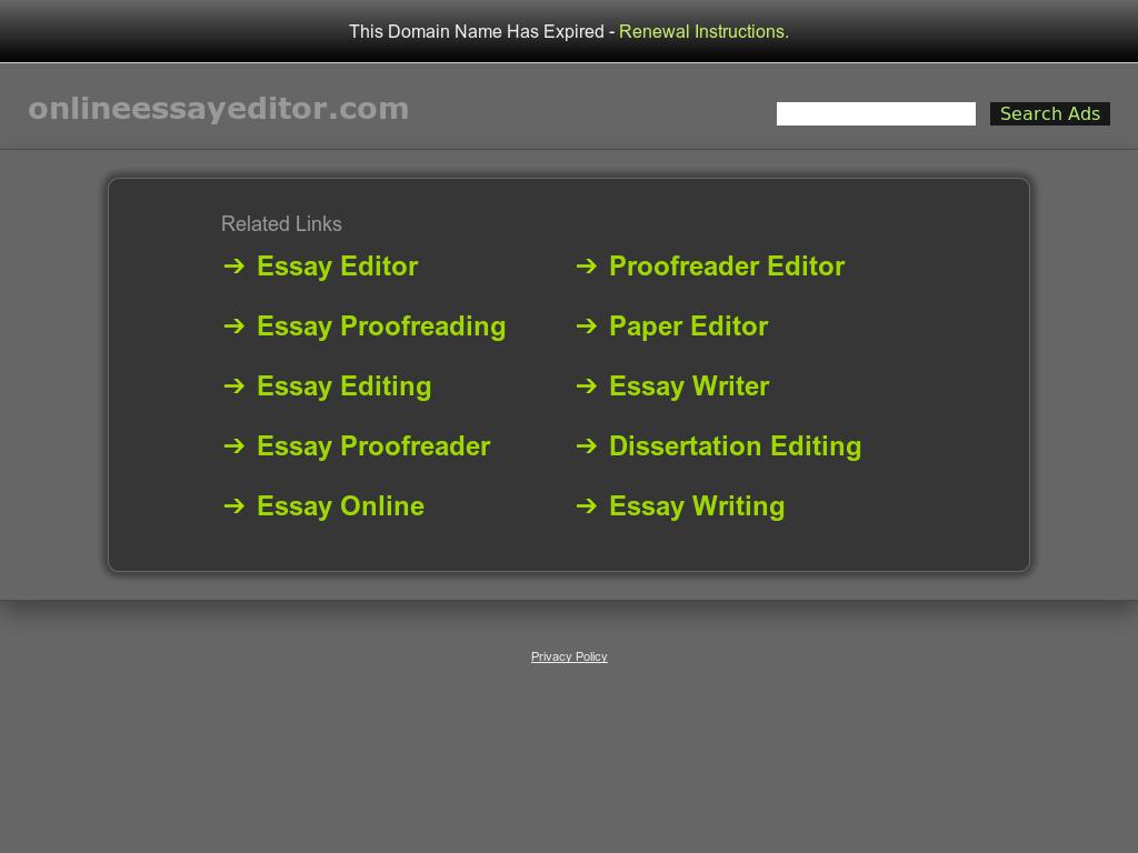Online Essay Editor Competitors Revenue And Employees  Owler  Online Essay Editors Website Screenshot On Jul