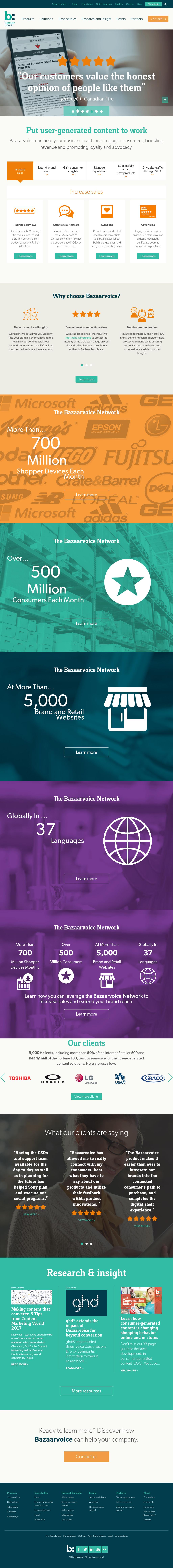 Bazaarvoice company profile revenue number of employees bazaarvoice website history biocorpaavc