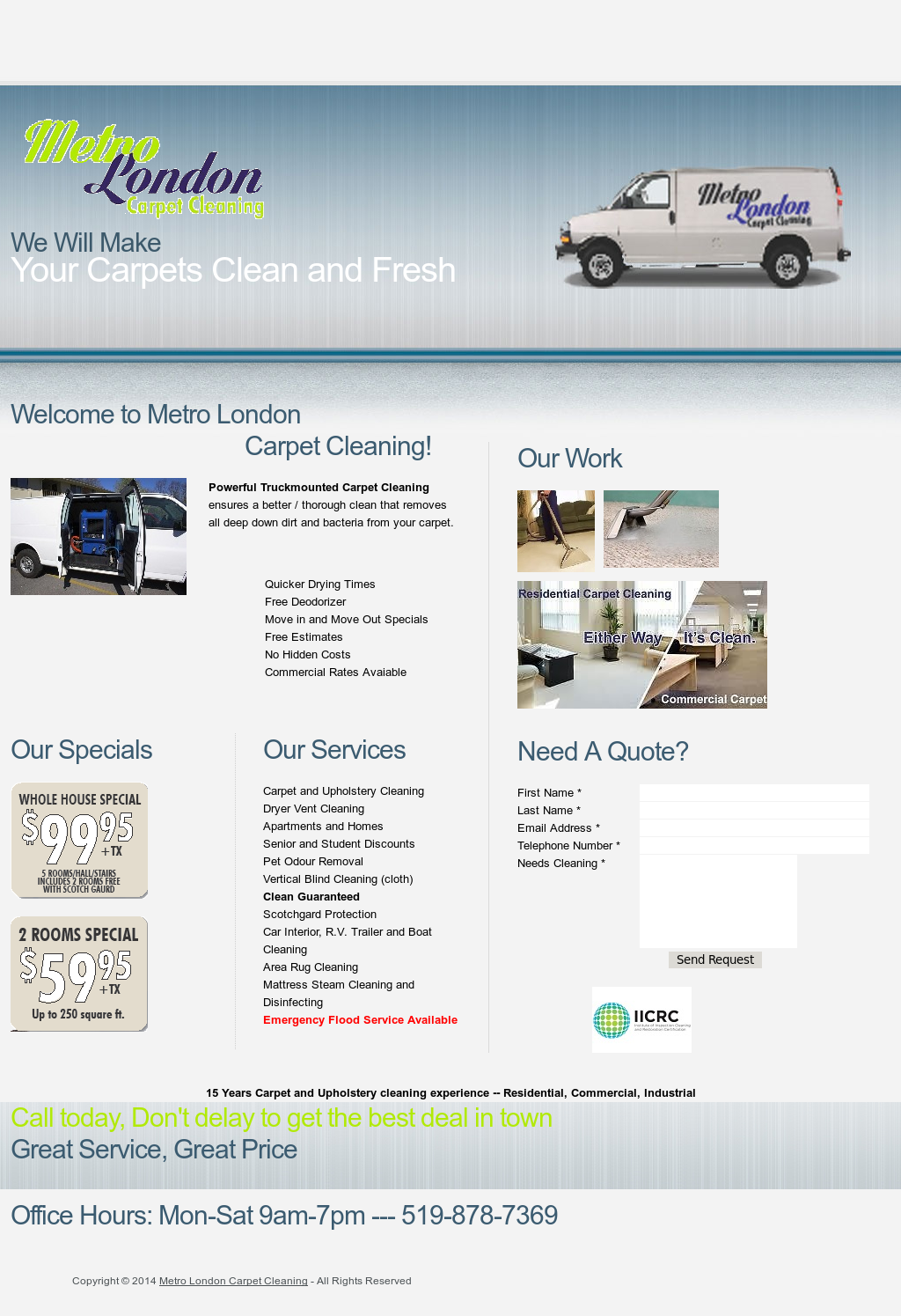 Metro London Carpet Cleaning Competitors, Revenue and