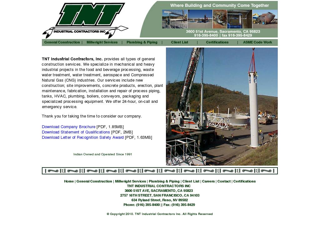 TNT Industrial Contractors Competitors, Revenue and