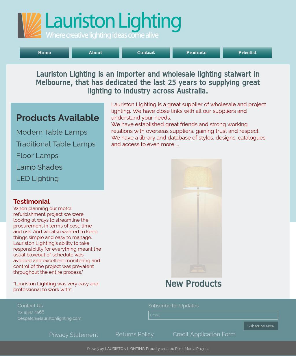 Lauriston Lighting Compeors Revenue
