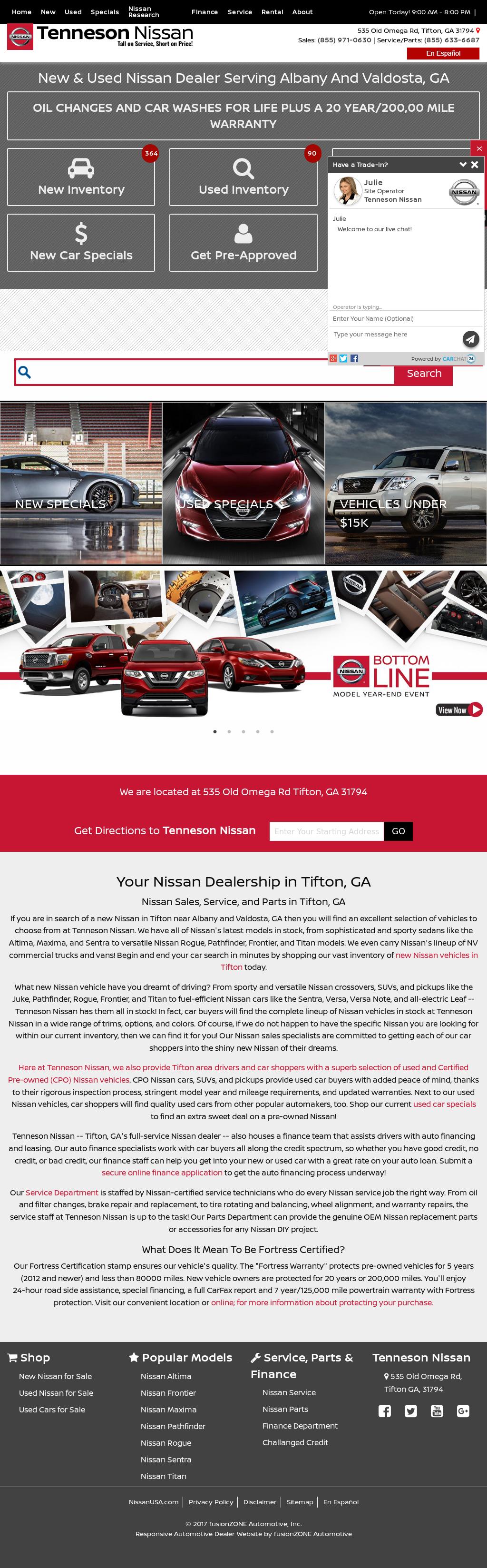Tenneson Nissan Website History