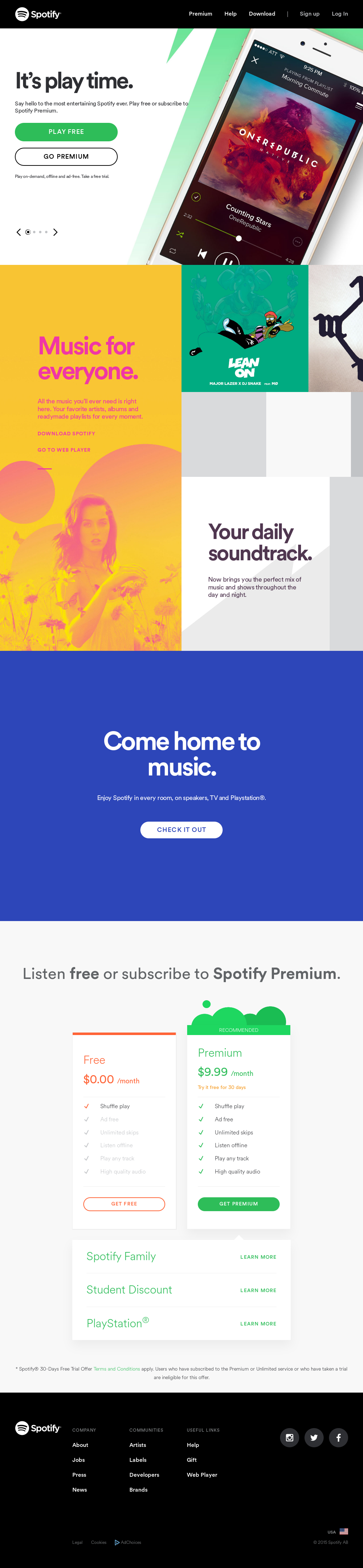 Owler Reports - Spotify Blog Introducing The Million
