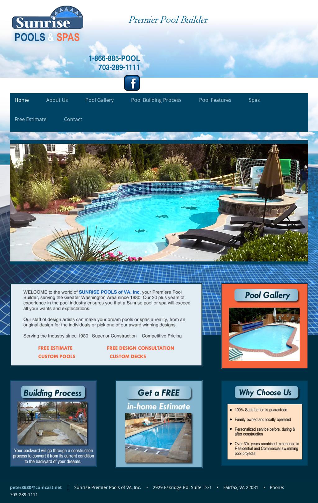 Sunrise premier pools of virginia competitors revenue and for Premier pools