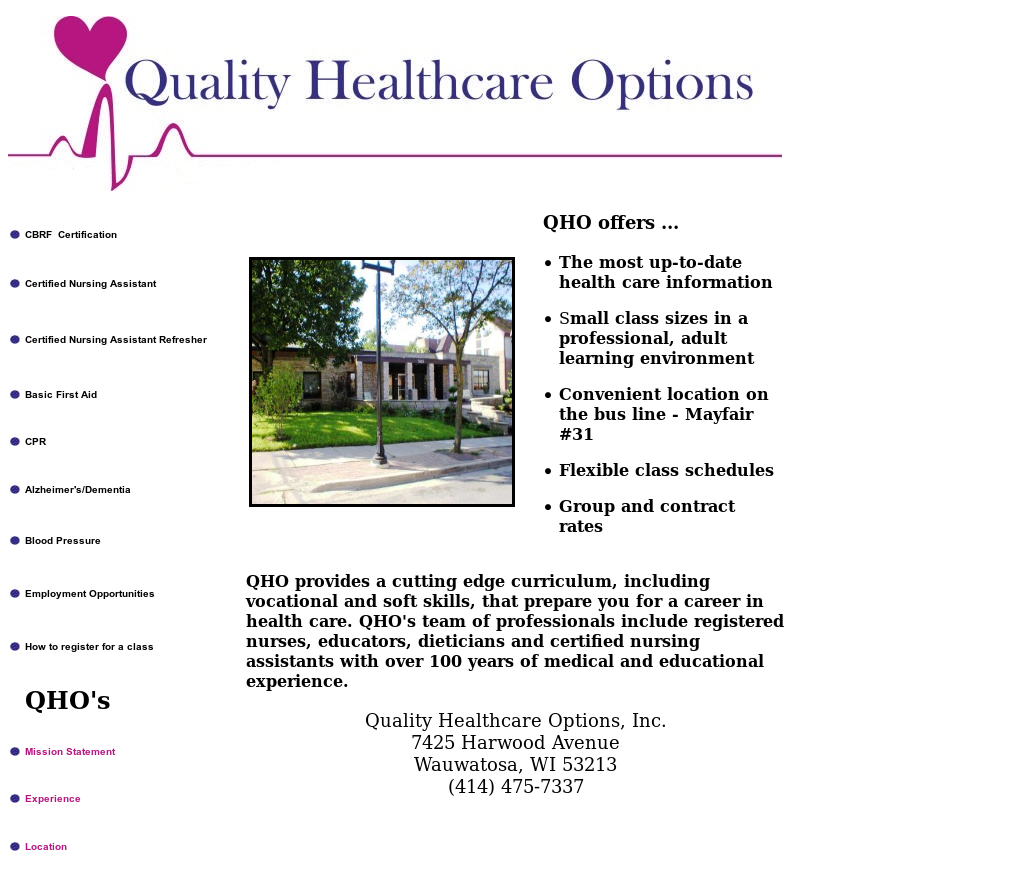 Quality Healthcare Options Competitors Revenue And Employees