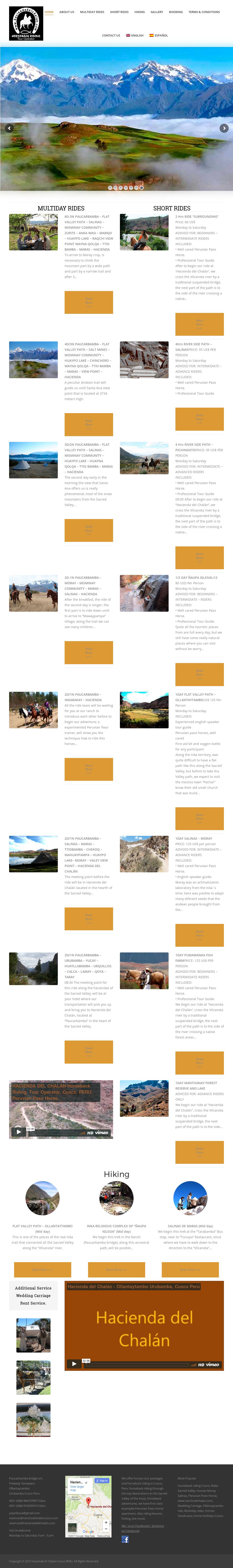 Hacienda El Chalan Cusco Peru Competitors, Revenue and
