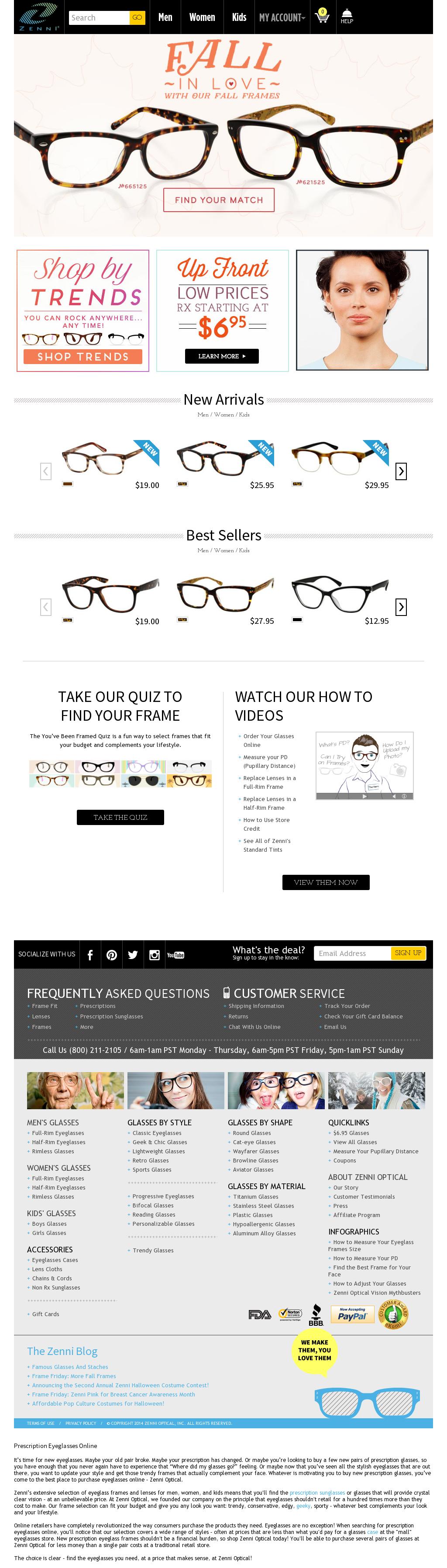 websites like zenni optical