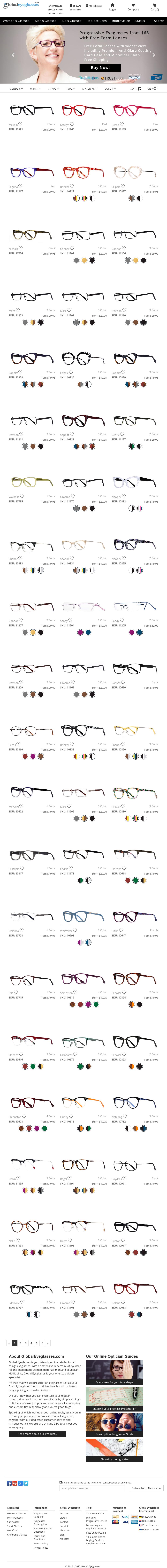 a172b7c6f94f Global Eyeglasses Competitors