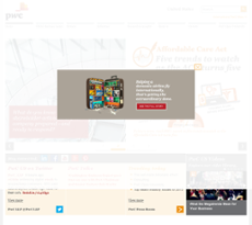 PwC website history