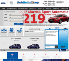 Ford And Mazda Of Orange Website History