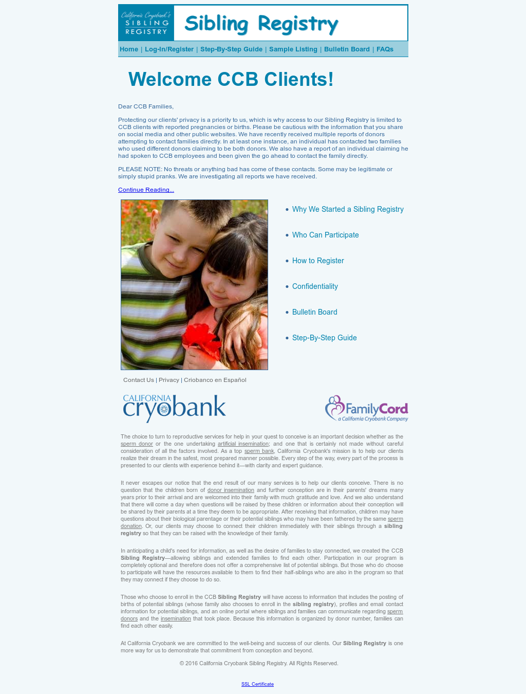 California Cryobank Sibling Registry Competitors Revenue And
