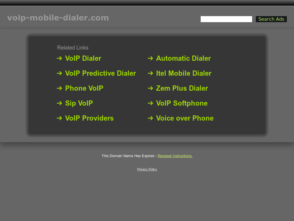 Voip Mobile Dialer Competitors, Revenue and Employees