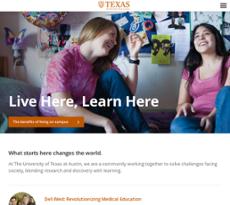 The University of Texas at Austin website history