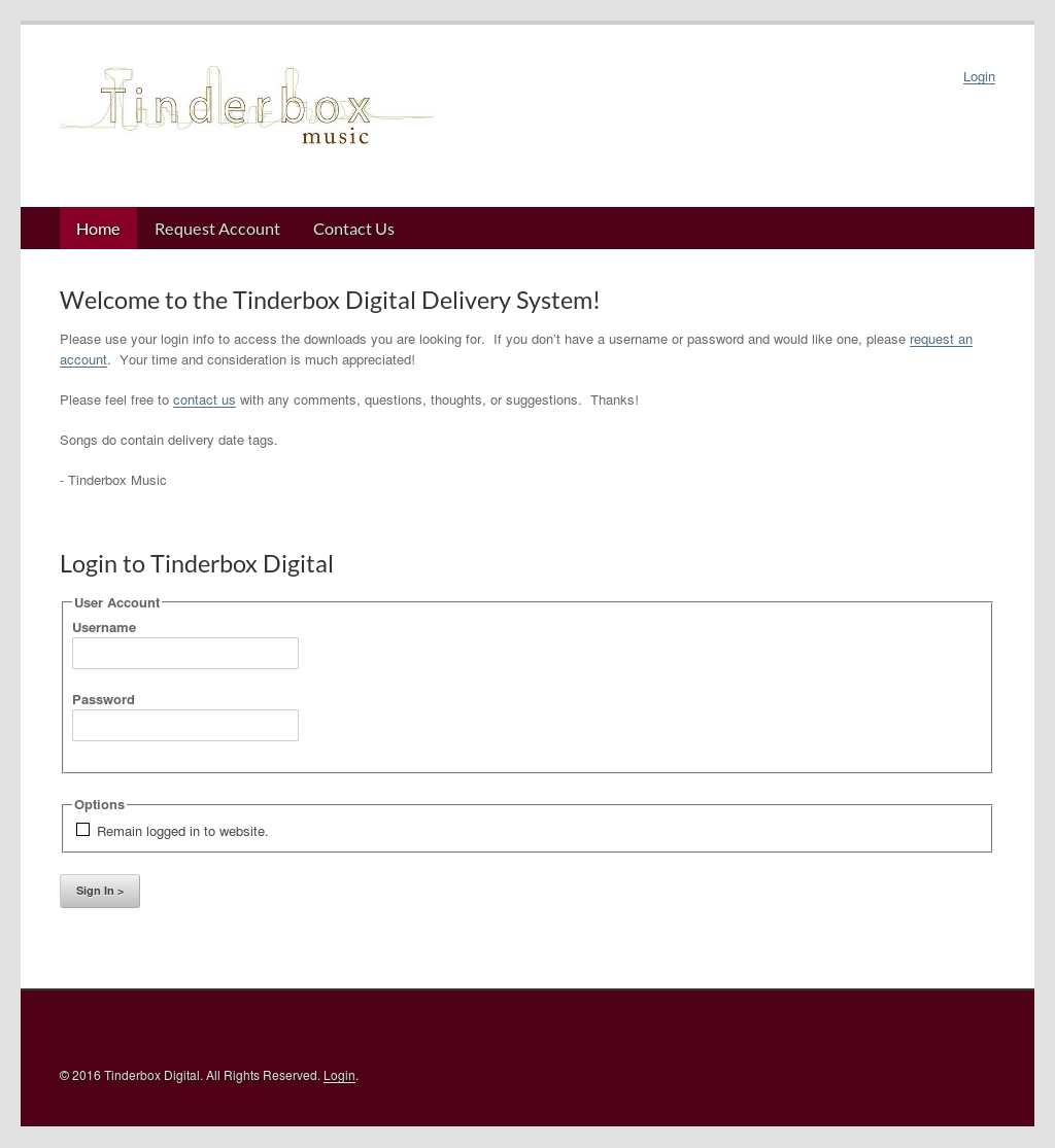 Tinderbox login