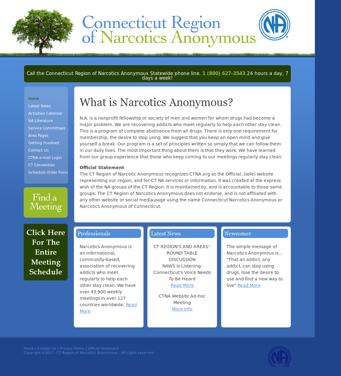 CT Region of Narcotics Anonymous Competitors, Revenue and