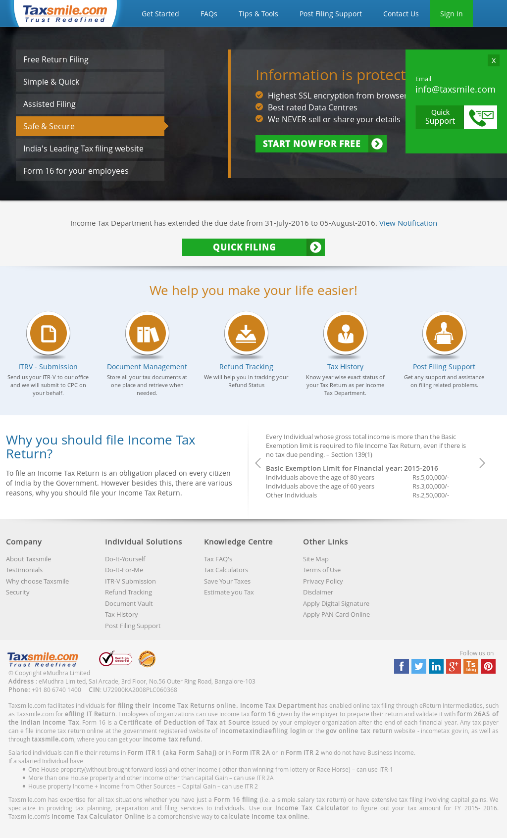 Taxsmile competitors revenue and employees owler company profile taxsmile website history solutioingenieria Image collections