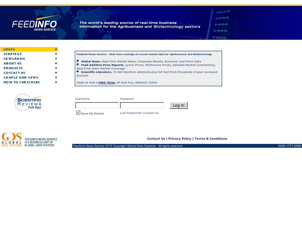 Feedinfo News Service Competitors, Revenue and Employees