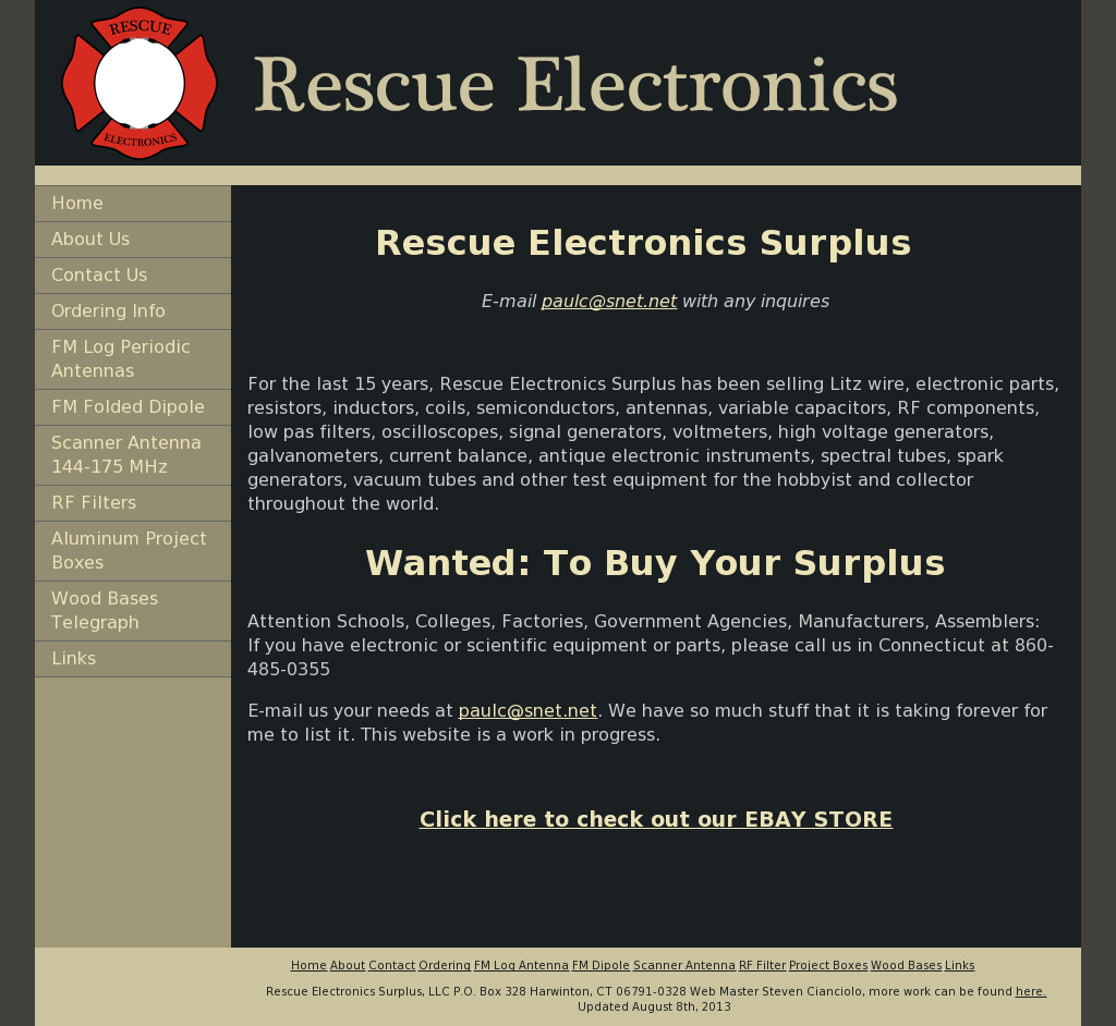 Rescue Electronics Surplus Competitors, Revenue and Employees