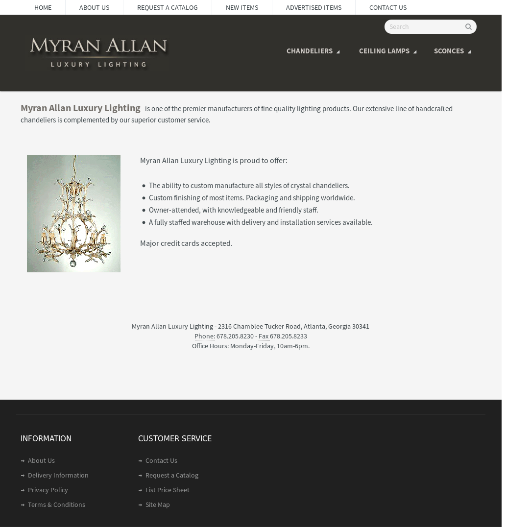 Myran allan chandelier competitors revenue and employees owler myran allan chandelier website history mozeypictures Choice Image