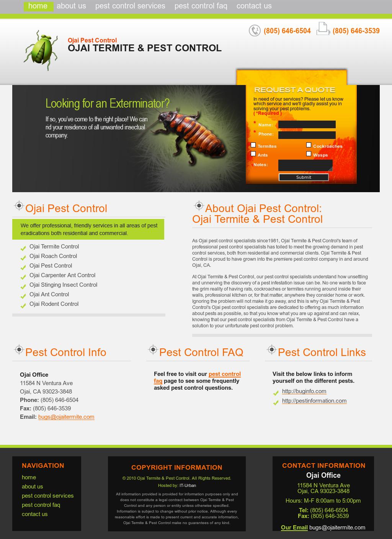 Ojai Termite Pest Control Website History