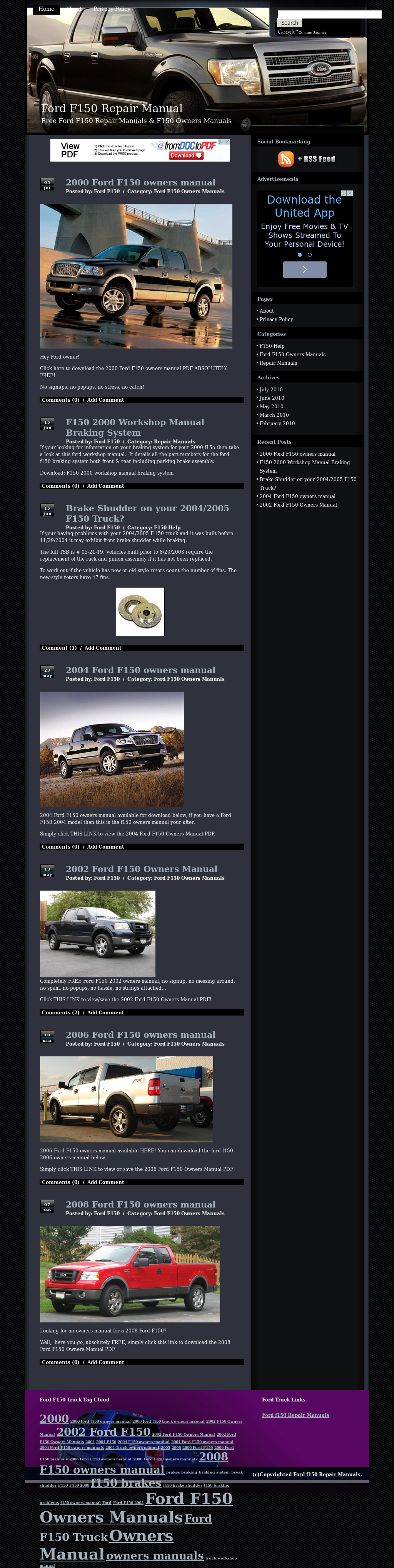 Ed Ford F150 Repair Manuals Competitors, Revenue and Employees - Owler  Company Profile