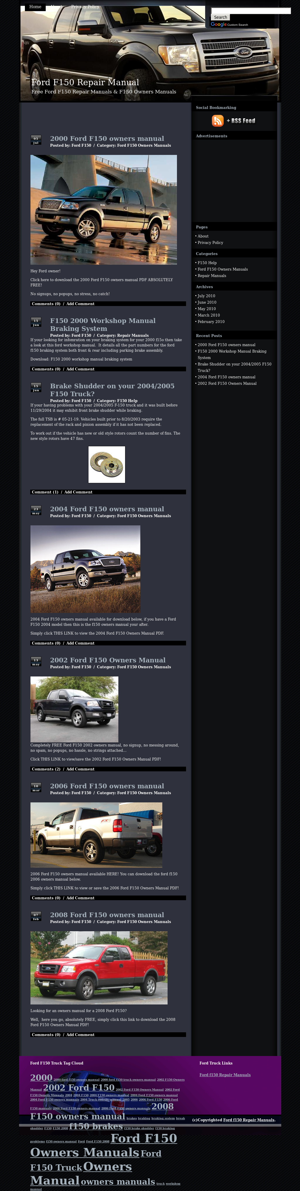 2017 f 150 owners manual