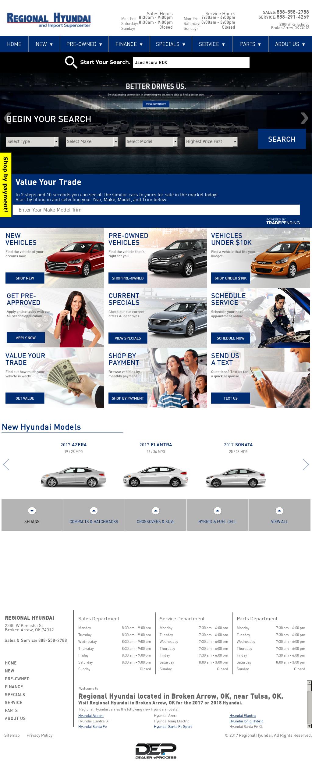 Regional Hyundai Website History