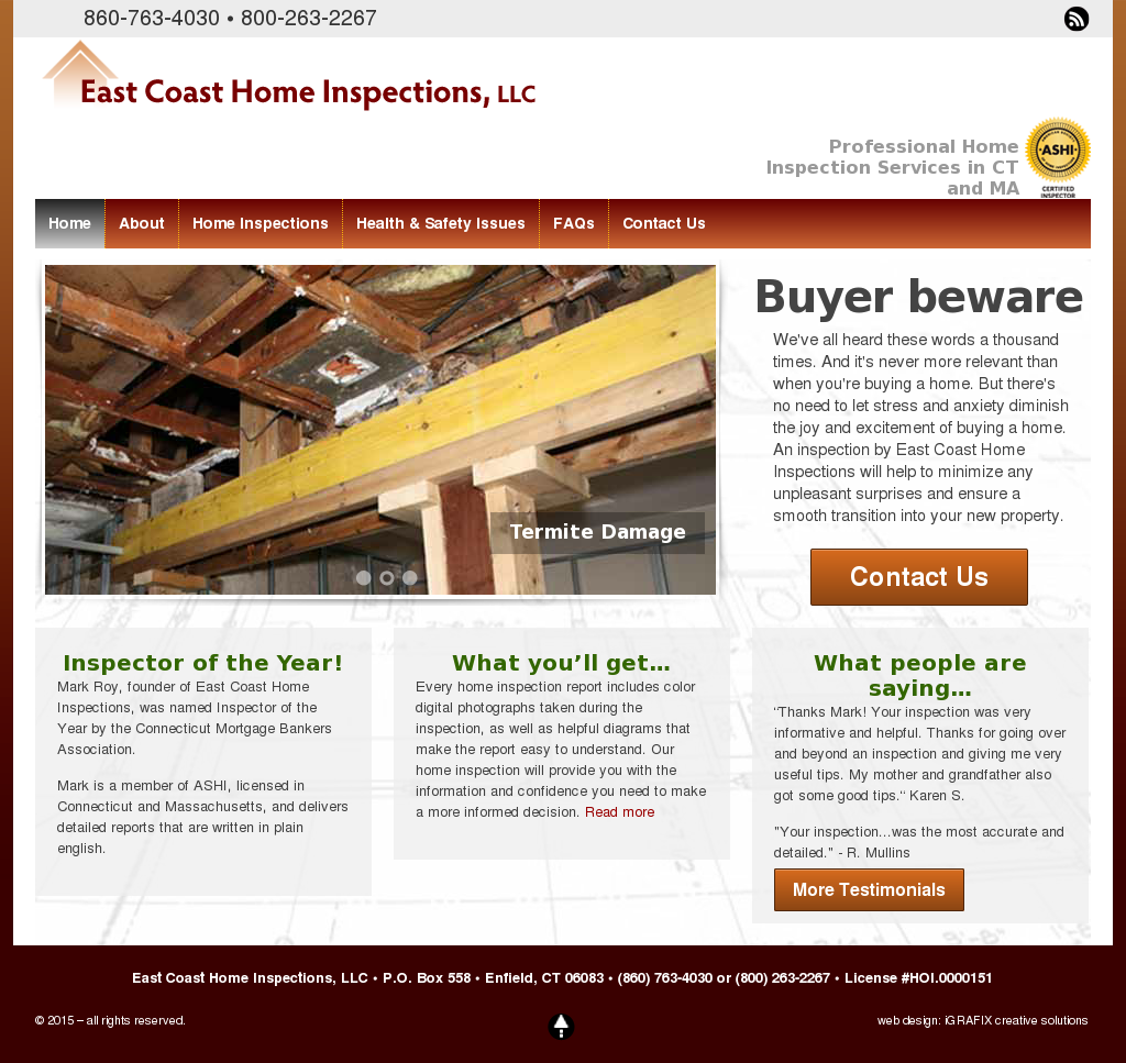 East Coast Home Inspections Compeors Revenue And Employees Owler Company Profile