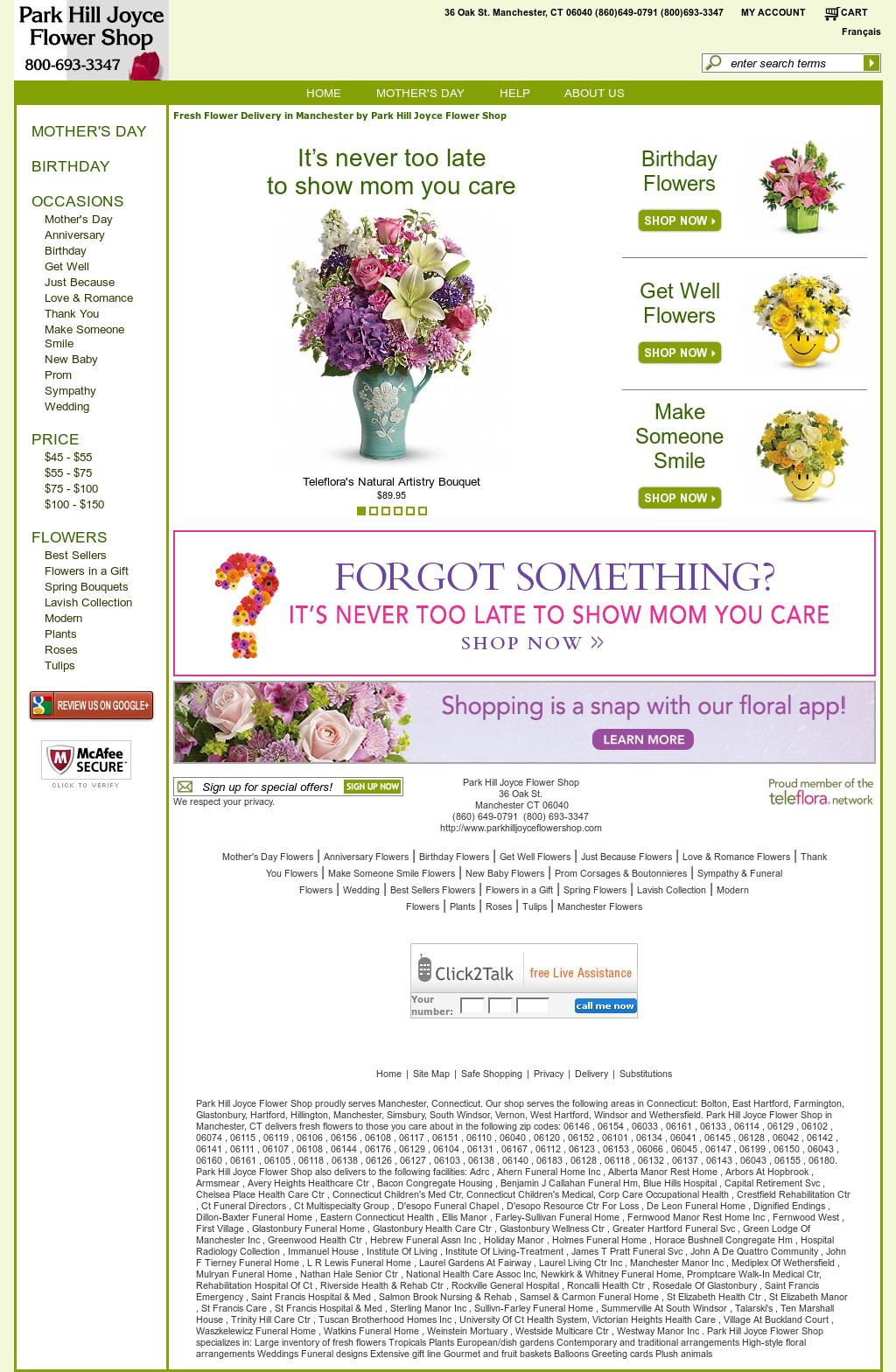 Park Hill Joyce Flower Shop Competitors Revenue And Employees