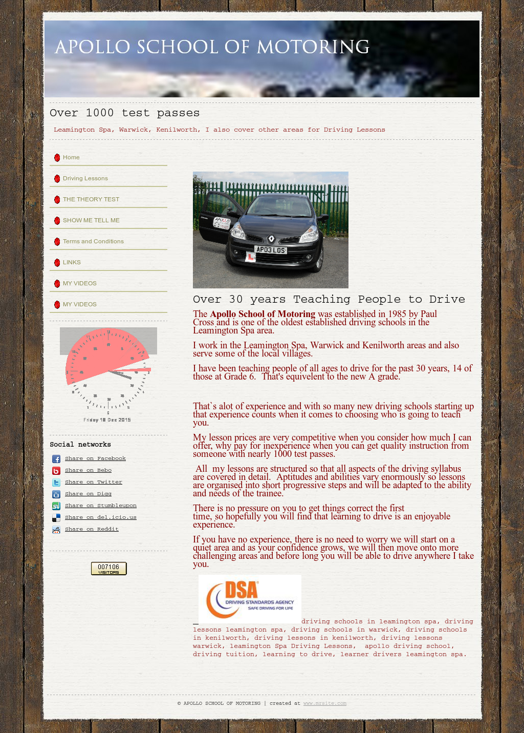 Apollo School Of Motoring Competitors, Revenue and Employees
