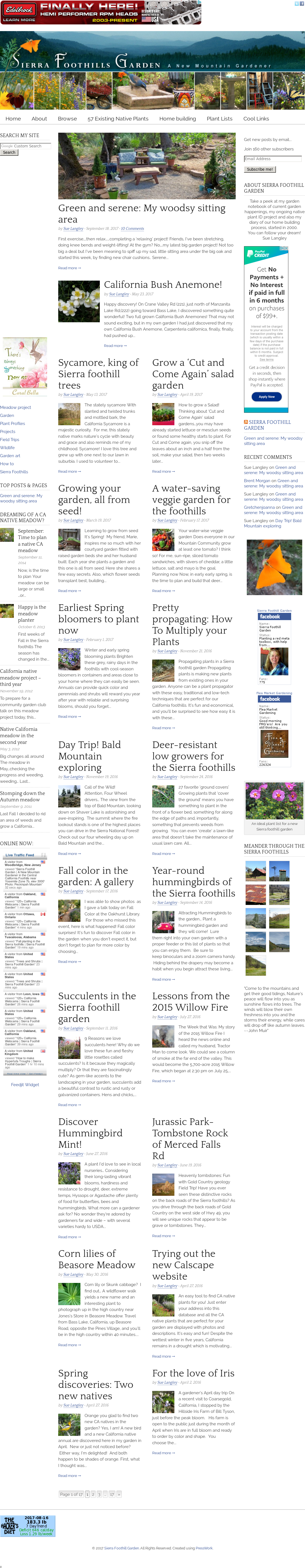 Sierra Foothill Garden Website History