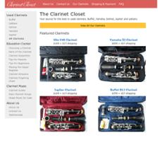 The Clarinet Closet Website History