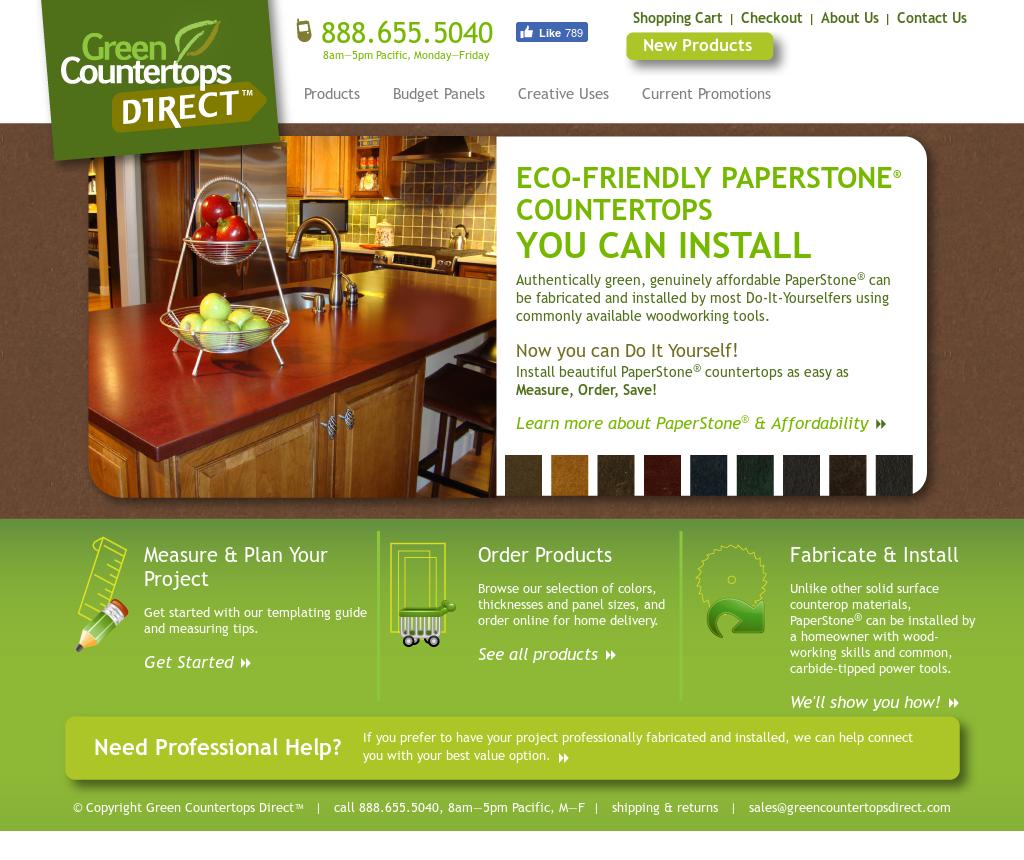 Green Countertops Direct Website History