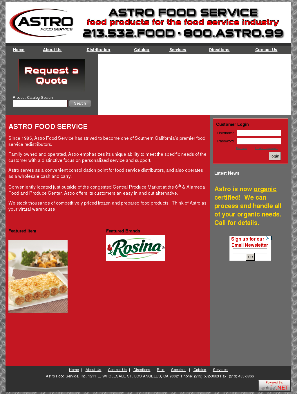 Astro Food Service Competitors, Revenue and Employees - Owler
