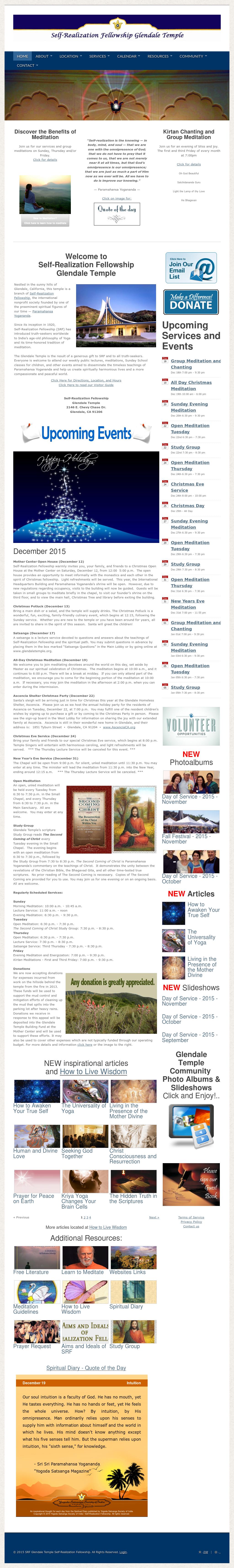 Srf Glendale Temple Self-realization Fellowship Competitors, Revenue ...