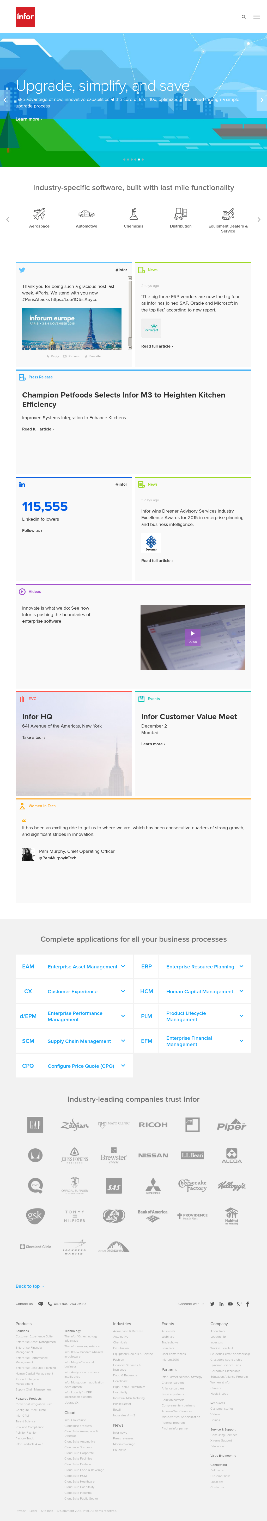 Infor Competitors, Revenue and Employees - Owler Company Profile